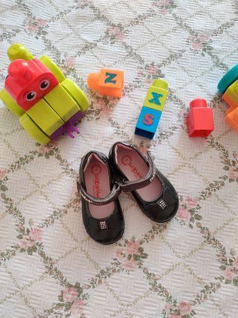 Туфлі для дівчинки, шкіряне взуття 20 розмір