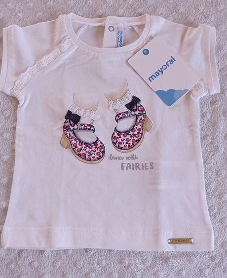Tshirt menina Mayoral nova 9 meses