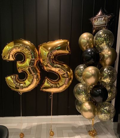 Гелевые шарики воздушные шары Геливые фольгированые гелиевые цифры