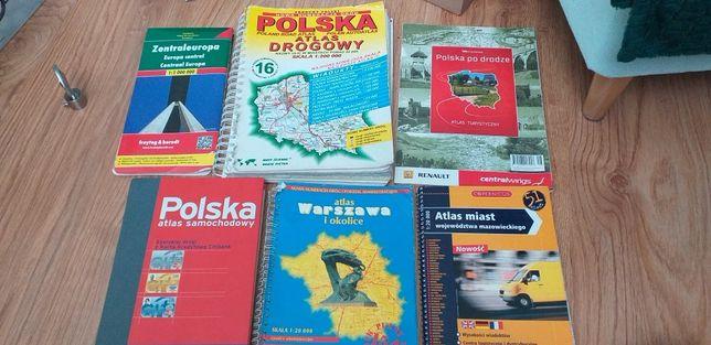 Mapy Warszawy, Polski i Europy