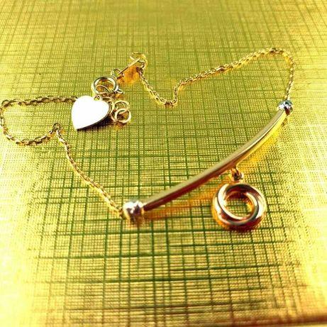 Nowa złota bransoletka 585/W:1,62