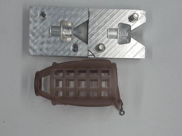 Форма для отливки грузов на кормушку Пуля