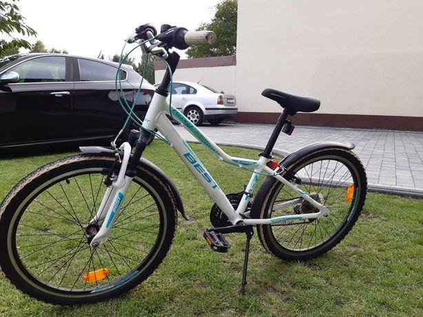 rower dzieciecy BEST ROXY Jr Bialy Turkusowy
