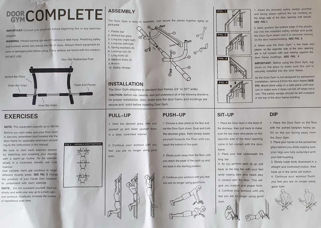 Barras paralelas novas de fitness, exercicio fisico