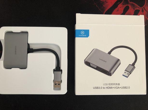 Адаптер VGA Hagibis, USB 3,0 на HDMI