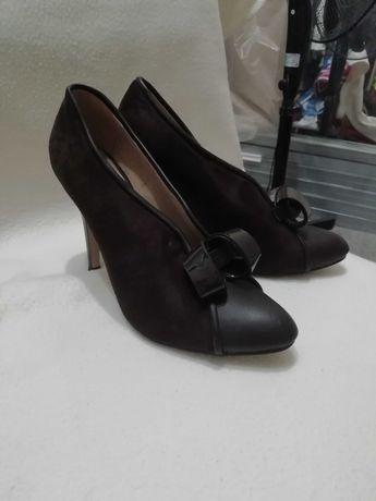 Туфли из натуральной кожи и замши
