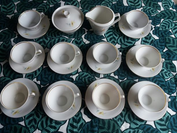 zestaw porcelana chodzież filiżanka cukiernica mlecznik herbata kawa