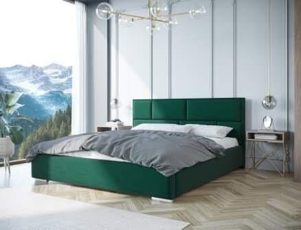 Łóżko tapicerowane KAJA 90,140,160,180x200, stelaż drewniany +pojemnik