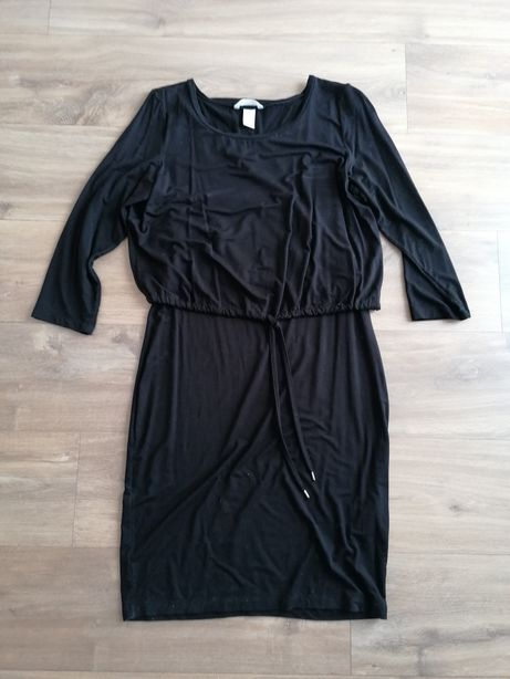 H&m mama karmienia karmiącej sukienka czarna 38 M