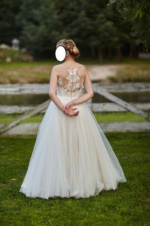 Suknia ślubna ksieżniczka.