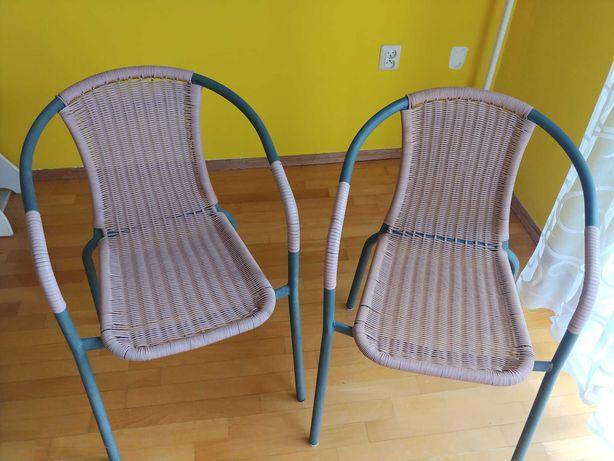 Stół śr 80cm+ 4 krzesła