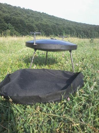 Сковорода с диска бороны,с крышкой и чехлом. Диск бороны