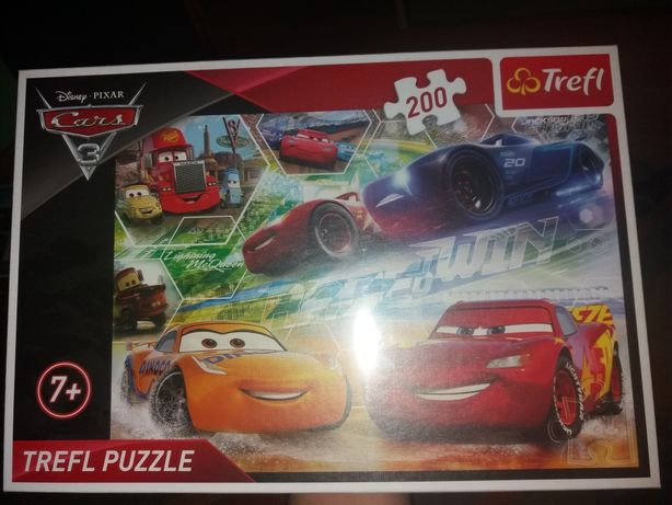"Nowe puzle TREFL 200 elementów, Z bajki "" Auta 3"""