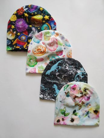 Весенняя шапка набор весняна шапка демисезонная шапка детская шапочка