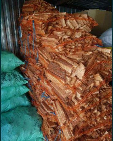 Drewno workowane suche rozpałkowe, kominkowe, do wędzarni, Węgiel 25kg