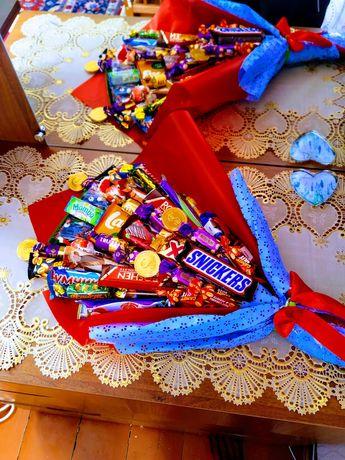 Солодкі букети з цукерок від 200грн