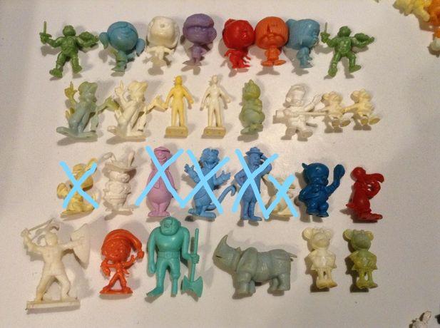 Bonecos Monocromáticos Astérix , Disney, Carrocel Mágico - Rajá e Olá