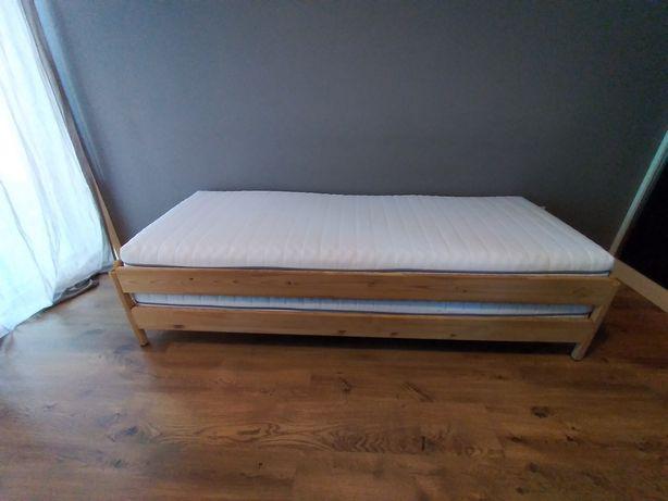 Cama empilhável c/2 colchões, pinho/Malfors firmeza média80x200 cm