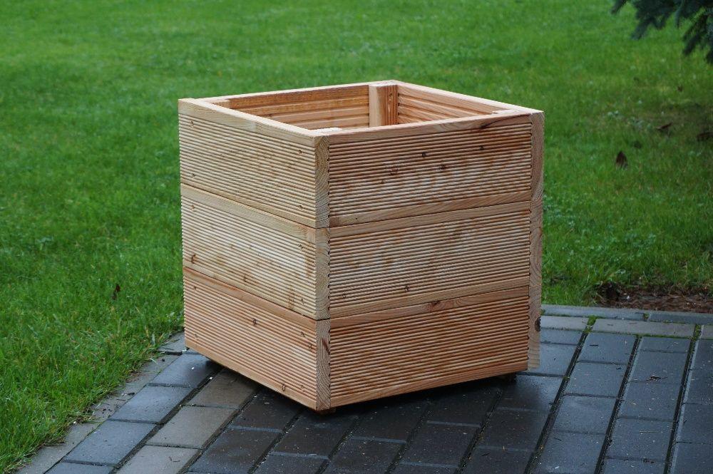 donica z deski tarasowej, modrzew, donice, doniczki modrzewiowe Błonie - image 1