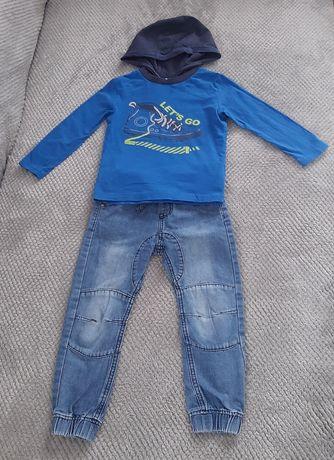 Zestaw bluzka +spodnie,104cm.