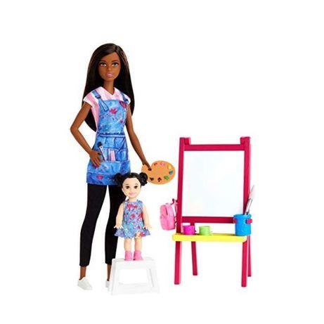 Кукла Барби Учитель рисования Barbie Art Teacher арт художник Mattel