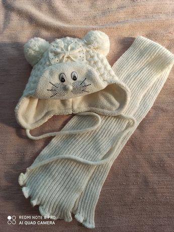 Шапочка і шарф комплект, зима