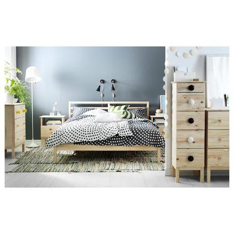 TARVARama łóżka, sosna, Ikea Leirsund, 160x200 cm