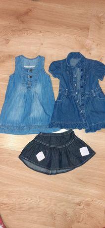 Sukienki jeansowe, rozmiar 92