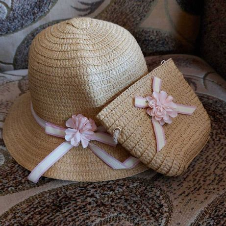 Шляпка и сумочка девочке кепка бейсболка панамка косынка