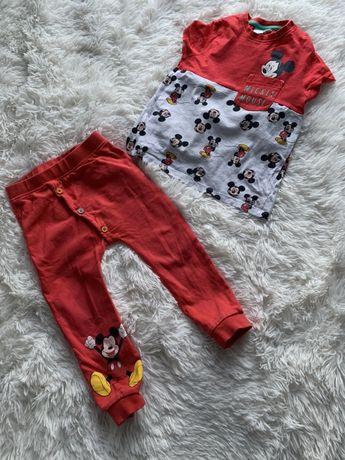 Śliczny komplet miki 98 dres piżamka legi