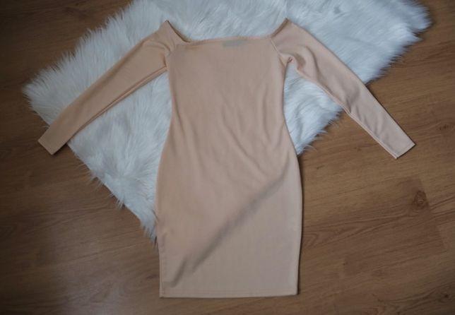 Cielista brzoskwiniowa sukienka Pretty Little Thing