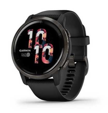 """Garmin """"VENU 2""""grafitowy Smartwatch z Amoled,GPS,MP3,NFC-płacenie,itd."""