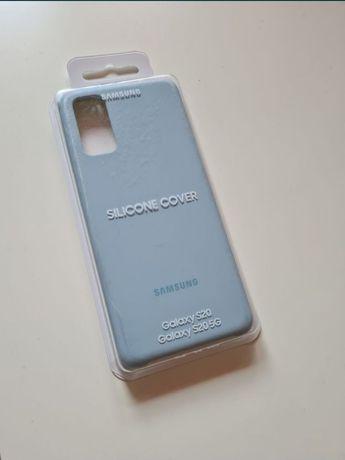 Oryginaln Etui Samsung Sillicone Cover Case Galaxy S20 blue niebieskie