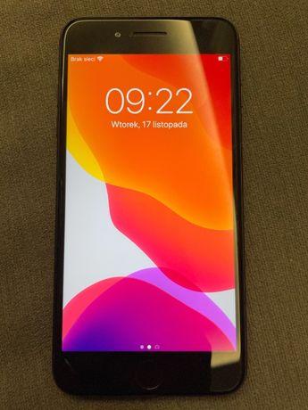 Iphone 7 + plus, stan bdb-, czarny, 32GB, etui, szkło ochronne