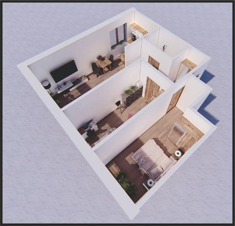 Przestronne mieszkanie 3 pokoje + kuchnia