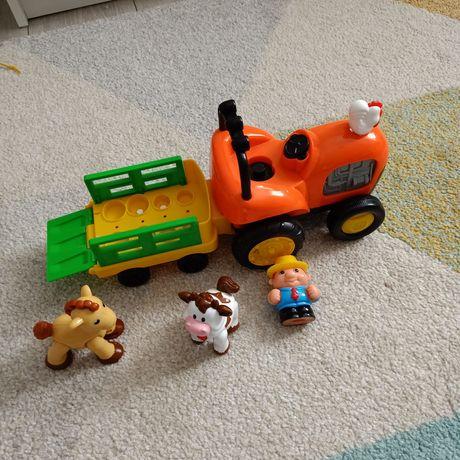 Zabawka traktor interaktywne grające