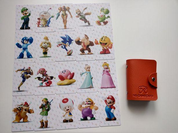 Karty amiibo Mario, zelda itp