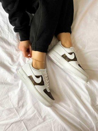 Женские Кроссовки Nike Air Force 1 Vuitton(AAA+) 36-37-38-39-40