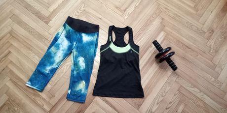 Набор спортивный костюм майка лосины для спорта сток новый размер S