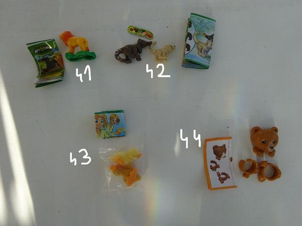 Jajka Kinder niespodzianka zabawki różne, zwierzęta duży zestaw 24 szt