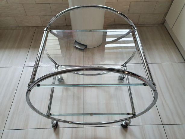 Stolik barek  szklany metalowy