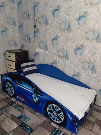 Ліжко машина з механізмом матрасом кровать машина БМВ кроватка 70х155