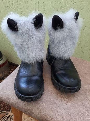 Зимние сапоги натуральные