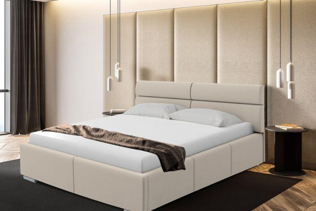 Łóżko sypialniane tapicerowane Monako, PROMOCJA stelaż+pojemnik, Promo
