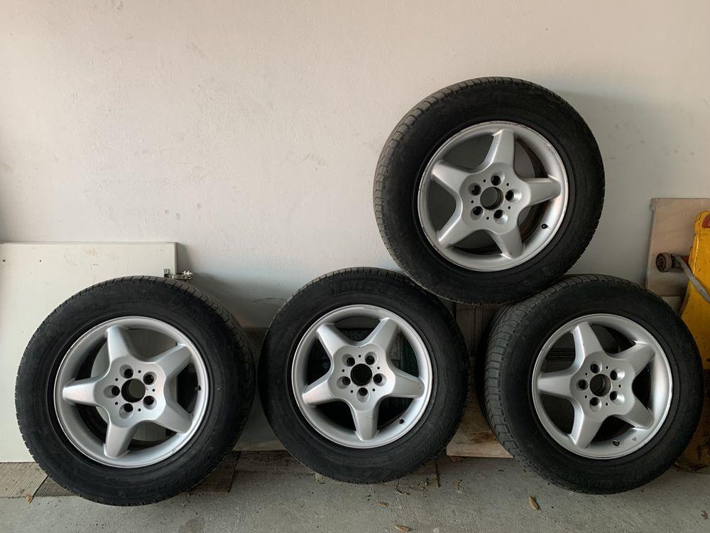 "Jantes Mercedes ML W163 17"" Pneus Michelin 265/55 17"