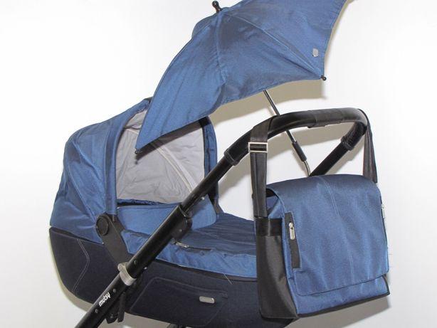 Wózek Mutsy Igo (spacerówka, gondola) z bardzo bogatym wyposażeniem