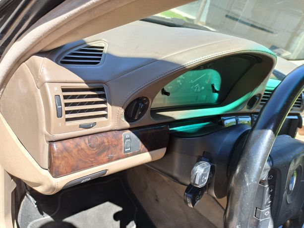 BMW E38 Deska rozdzielcza beżowa kokpit skóra rarytas 750 V12
