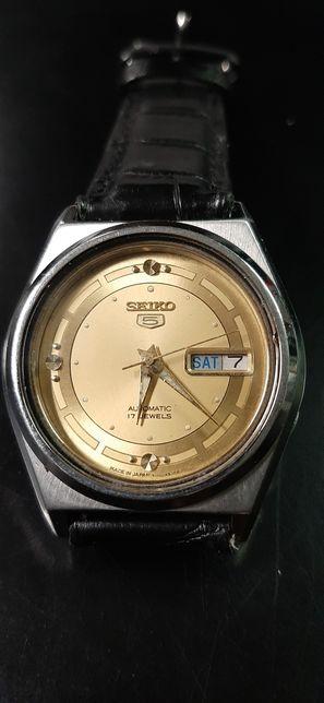 Relógio seiko dourado