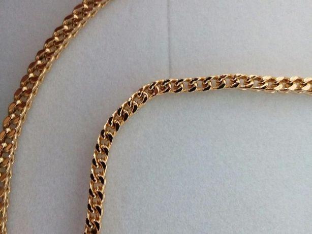 Złot bransoletka,Pozłacana bransoletka,14k,585,ITALY 316L GOLD NOWA