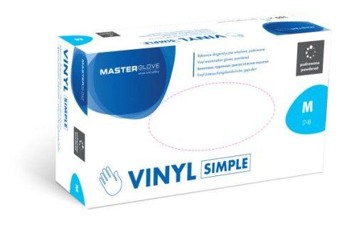 Rękawiczki rękawice winylowe vinylowe pudrowane MASTER GLOVE